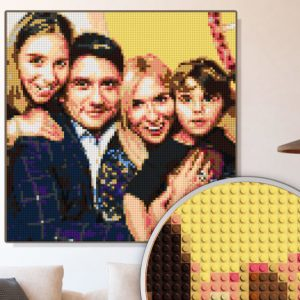 Personalized LEGO Brick Mosaic Portrait
