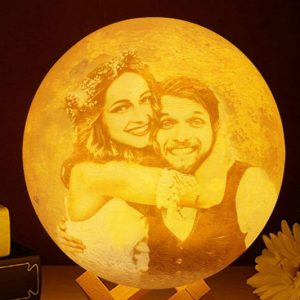 Personalized Photo 3D Printed Moon Lamp