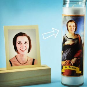 Your Face On A Prayer Candle