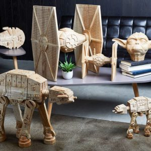 Hand Carved Geeky Wooden Sculptures