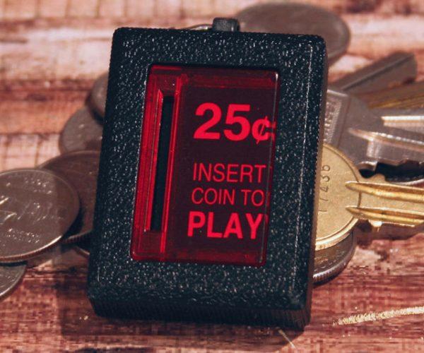 Arcade Coin Slot Keychain