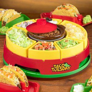 Taco Tuesday Heated Lazy Susan
