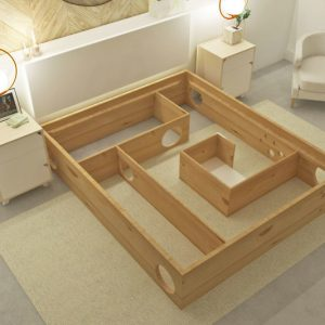 The Cat Maze Bed Frame