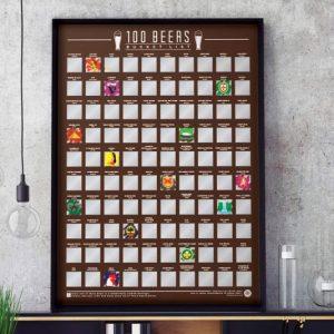 100 Beers Bucket List Poster