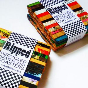 Recycled Skateboard Deck Coasters