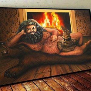 Naughty Hagrid Painting