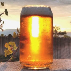 Can Shaped Beer Glass