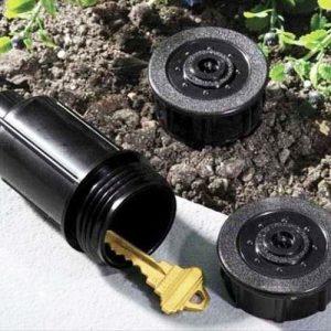 Lawn Sprinkler Hidden Key Safe