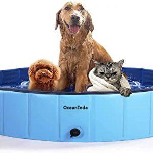 OceanTeda Foldable Dog Pet Pool Bathtub