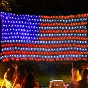 Twinkle Star American Flag String Lights