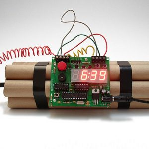 Defusable Bomb Alarm Clock