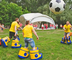 Giant Inflatable Bouncy Soccer Shoes