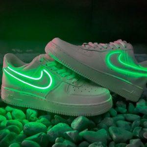 Neon Nike Air Force 1 Sneakers